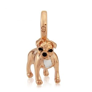 Rose Gold Staffordshire Bull Terrier Necklace 1