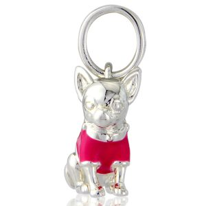 Sterling Silver Chihuahua Charm 0