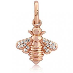 Rose Gold Sparkly Bee Charm 0