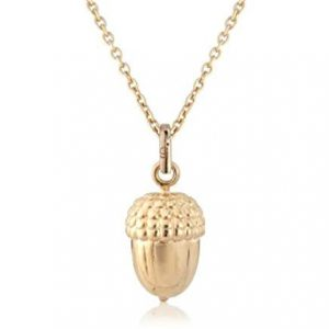 Rose Gold Acorn Necklace 0