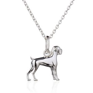 Sterling Silver Boxer Dog Pendant 0