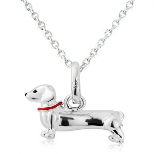 Silver Dachshund Necklace 0