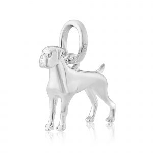 Sterling Silver Boxer Dog Pendant 1