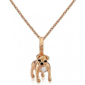 Rose Gold Staffordshire Bull Terrier Necklace 0