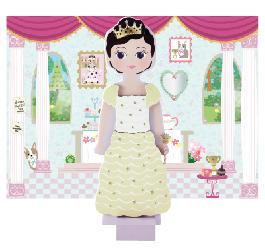 Wooden Magnetic Doll Dress Up Charlotte 0