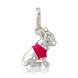Sterling Silver Chihuahua Charm 1
