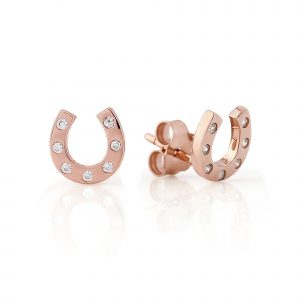 Rose Gold Sparkly Hoof Studs 0