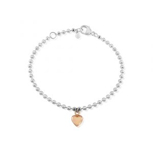 Rose Gold Love Heart Bracelet 0
